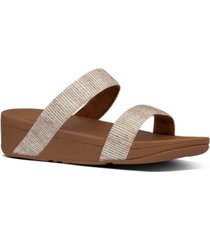 fitflop lottie glitter stripe sandals women's shoes