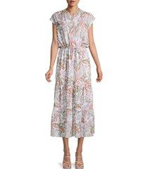 rebecca minkoff women's giselle floral midi dress - white multi - size s