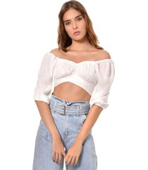 crop top blanco primia solara