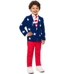boy's opposuits stars & stripes two-piece suit with tie (toddler, little boy & big boy)
