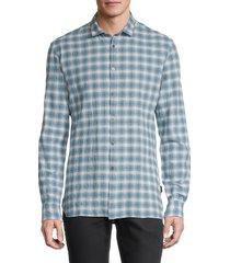john varvatos star u.s.a. men's slim-fit printed shirt - midnight - size xxl