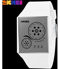 hombres y mujeres = reloj impermeable led-blanco
