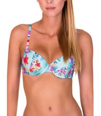 bikini lisca voorgevormde badpak top florida hemelsblauw