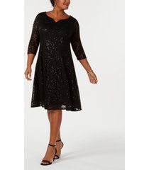 sl fashions plus size sequined lace dress