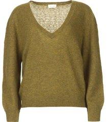 basic trui met v-hals kybird  groen