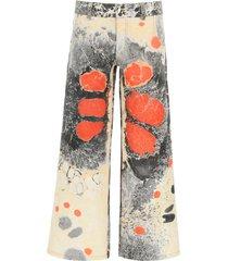 chopova lowena multicolor denim jeans