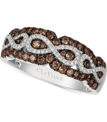 le vian chocolatier diamond infinity ring (5/8 ct. t.w.) in 14k white gold