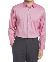 men's big & tall nordstrom traditional fit non-iron dress shirt, size 18.5 - 36/37 - red