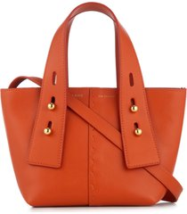 frame les second mini crossbody bag - orange