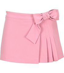 red valentino bow detail pleated skirt