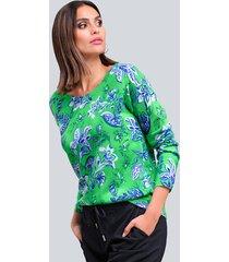 trui alba moda marine::groen::blauw