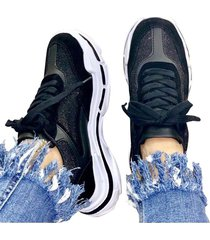 tenis sneakers negro murano shoes suela mix