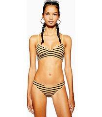 textured striped bikini bottoms - multi