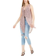 bar iii abstract sleeveless tunic top, created for macy's