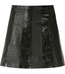 andrea bogosian rick leather skirt - black