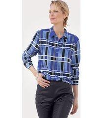 blouse mona blauw::lichtblauw