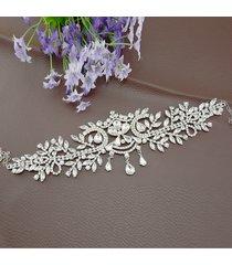 fascia per capelli da sposa in tulle con strass per cerimonia nuziale