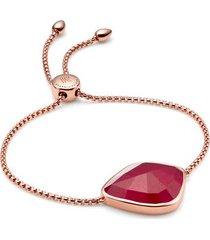 rose gold siren nugget cocktail friendship chain bracelet pink quartz