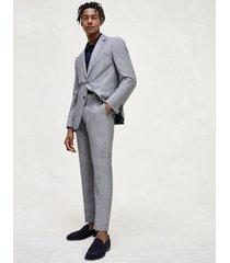 tommy hilfiger men's regular fit linen and wool suit ash melange - 44