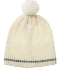women's water repellent textured knit beanie