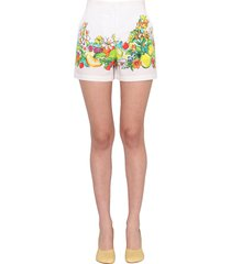 boutique moschino flower and fruit print shorts