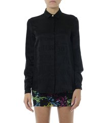 versace jeans couture versace jeans black viscose shirt