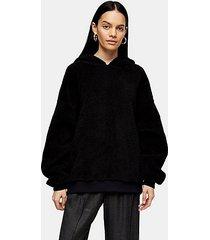 *black borg hoodie by topshop boutique - black