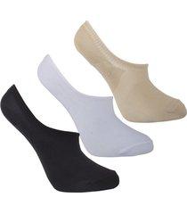medias tipo baleta invisibles diseño uou socks varios pack x 3 und envio gratuito