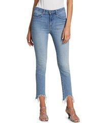 l'agence women's harlem frayed skinny jeans - tahoe - size 24 (0)