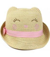 sombrero tejido beige ficcus