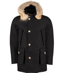 woolrich arctic parka with fur trimmed hood