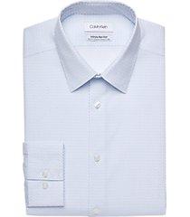 calvin klein infinite non-iron blue triangle slim fit dress shirt