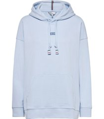 cindy relaxed hoodie ls hoodie trui blauw tommy hilfiger