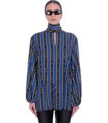 balenciaga blouse in black viscose