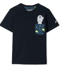 astronaut printed pocket boy t-shirt