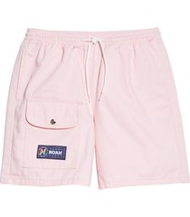 men's noah twill utility shorts, size x-small - pink