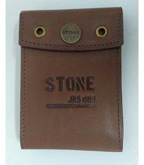 billetera chocolate stone