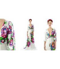 magdalena maxi flower - sukienka