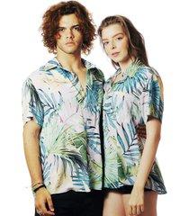 camisa praia estampada elephunk havana verde