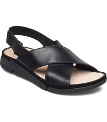 tri alexia shoes summer shoes flat sandals svart clarks