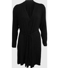 robe calvin klein underwear lettering preto - preto - feminino - viscose - dafiti