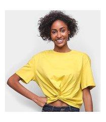 camiseta colcci detalhe transpassado feminina