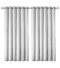cortina em poliéster com ilhos em metal rocca branca 400x230cm