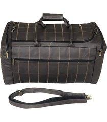 bolsa de viagem de couro - a bordo - kesck couro marrom