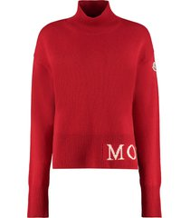 moncler turtleneck knitted pullover