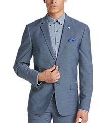 ben sherman blue sharkskin extreme slim fit suit
