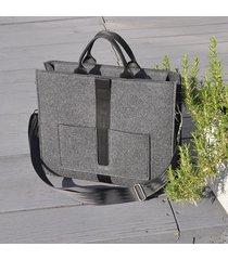 designerska torba z filcu - grafitowa - duża