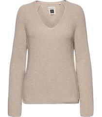 pullover long sleeve stickad tröja beige marc o'polo