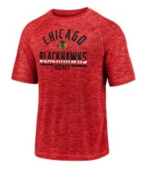 majestic chicago blackhawks men's striated arch t-shirt
