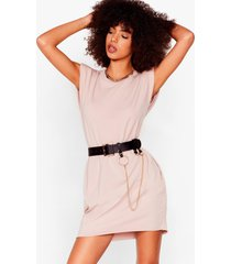 womens shoulder pad case of lovin' you jersey mini dress - rose